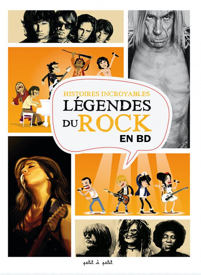 Couverture de Le panthéon des stars du rock - Histoires incroyables des légendes du Rock en BD