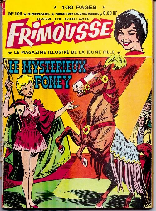 Couverture de Frimousse et Frimousse-Capucine -105- Le mysterieux poney