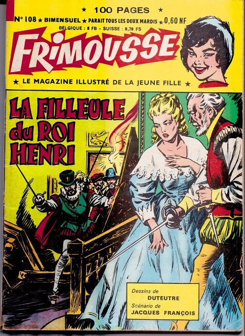 Couverture de Frimousse et Frimousse-Capucine -108- La filleule du roi henri