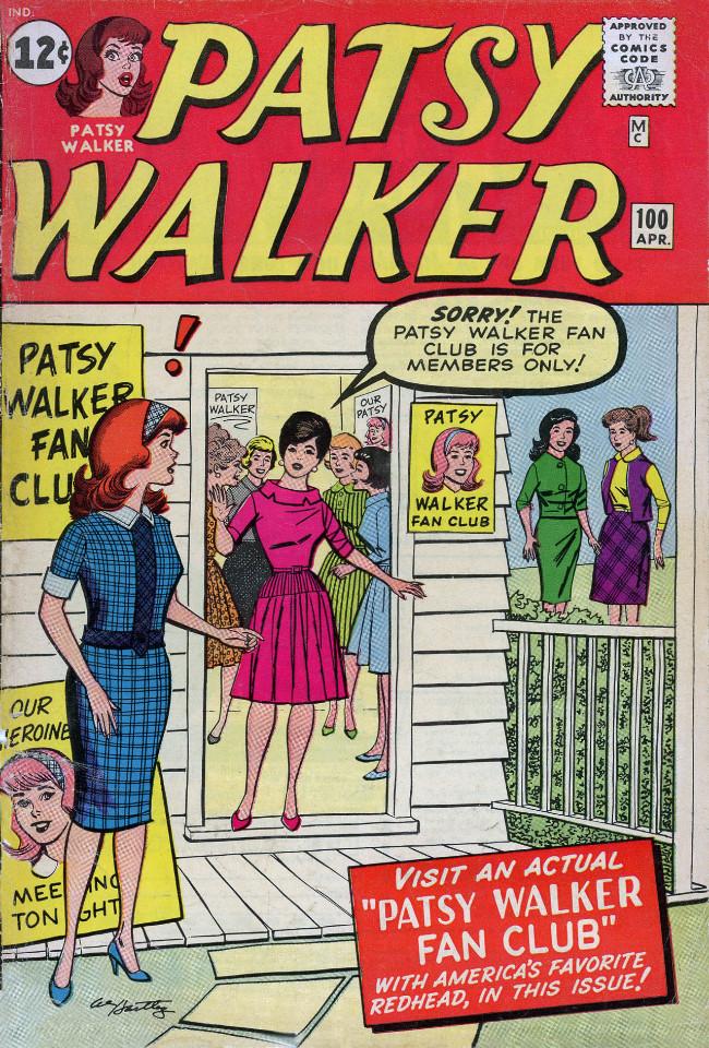 Couverture de Patsy Walker (Timely/Atlas - 1945) -100- Patsy Walker Fan Club