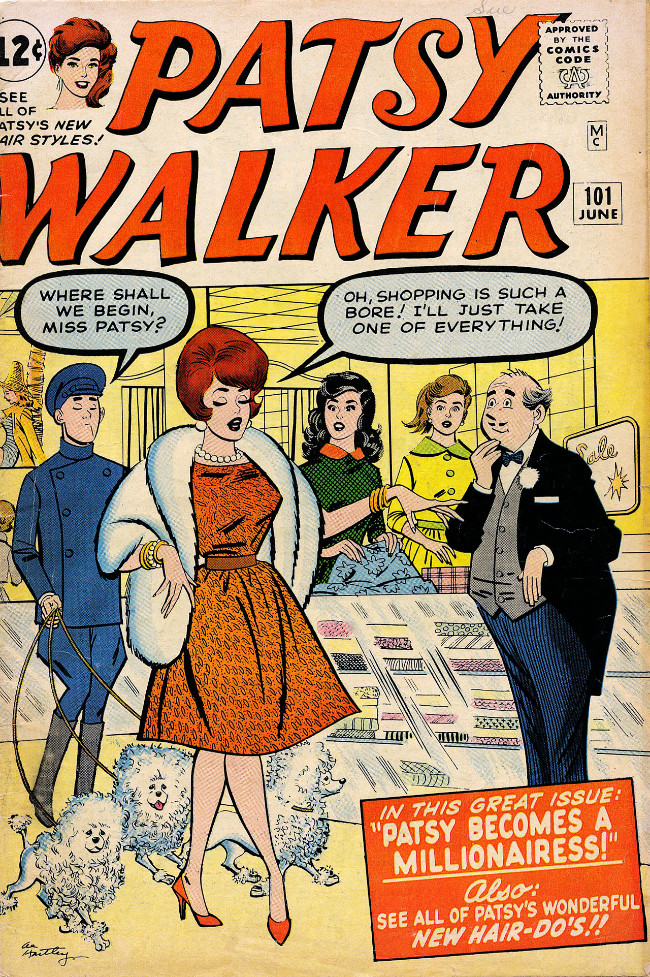 Couverture de Patsy Walker (Timely/Atlas - 1945) -101- Patsy Becomes a Millionairess!