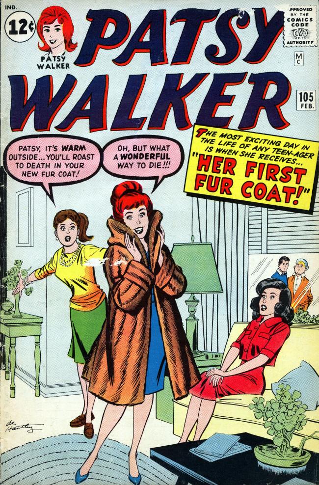 Couverture de Patsy Walker (Timely/Atlas - 1945) -105- Her First Fur Coat!