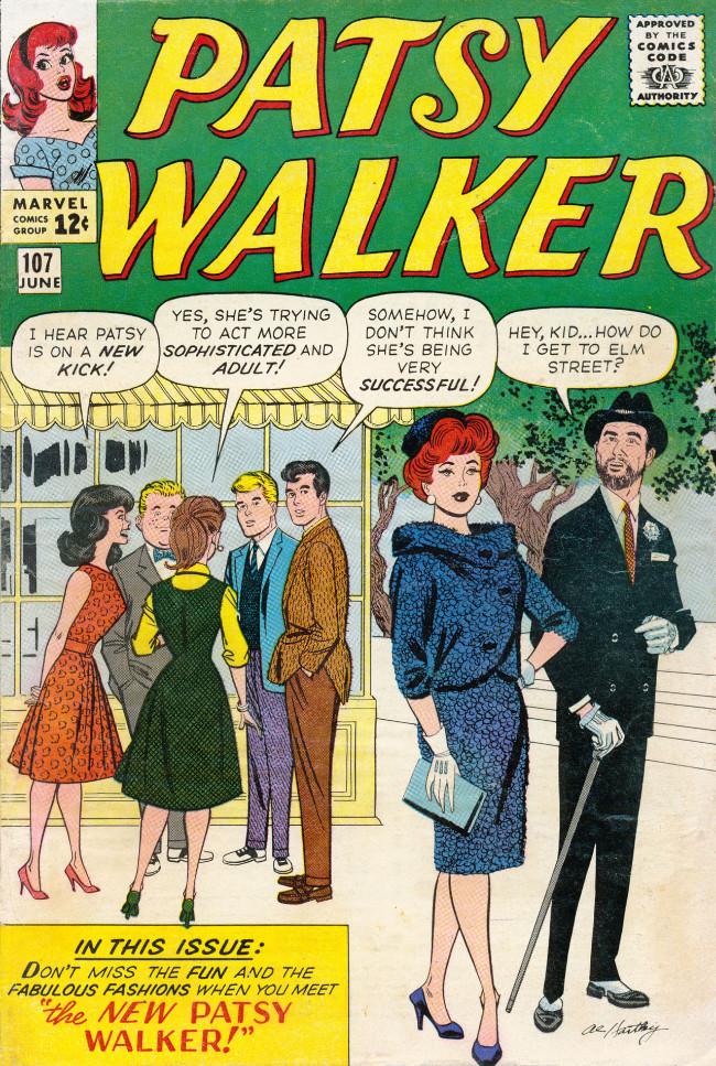Couverture de Patsy Walker (Timely/Atlas - 1945) -107- The New Patsy Walker!