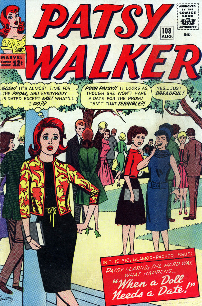 Couverture de Patsy Walker (Timely/Atlas - 1945) -108- When a Doll Needs a Date!