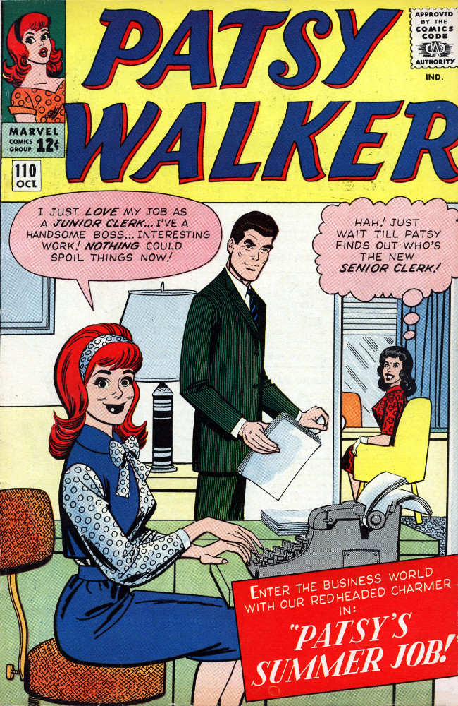 Couverture de Patsy Walker (Timely/Atlas - 1945) -110- Patsy's Summer Job