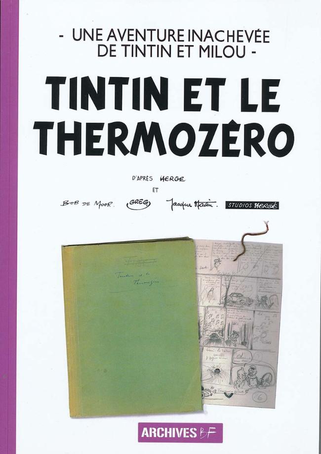 Couverture de Tintin - Pastiches, parodies & pirates -40PIR2- Tintin et le Thermozéro