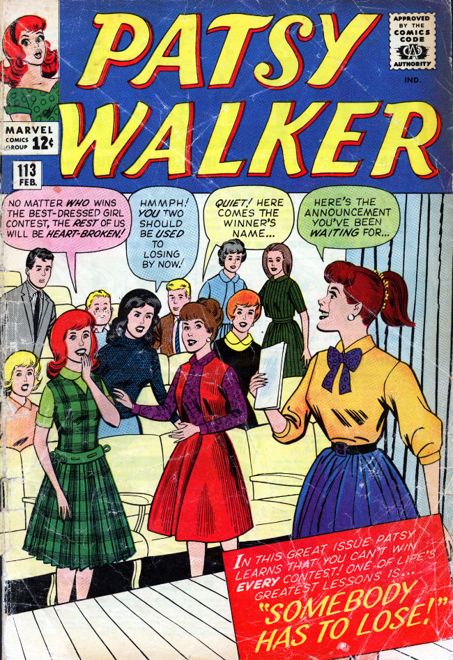 Couverture de Patsy Walker (Timely/Atlas - 1945) -113- Somebody Has to Lose!