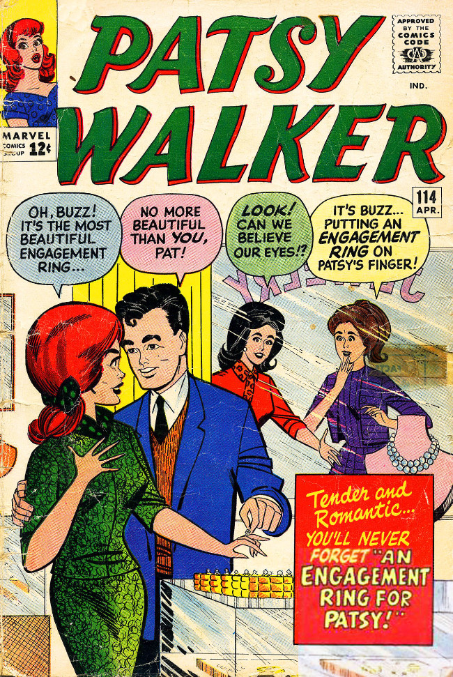 Couverture de Patsy Walker (Timely/Atlas - 1945) -114- An Engagement Ring for Patsy!