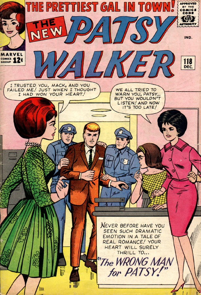 Couverture de Patsy Walker (Timely/Atlas - 1945) -118- The Wrong Man for Patsy!