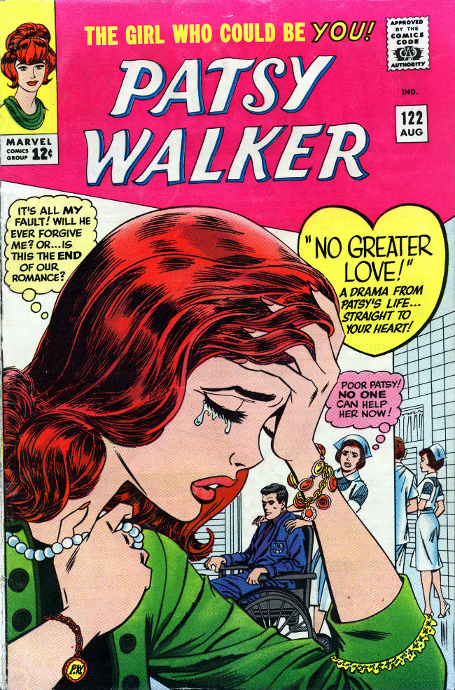 Couverture de Patsy Walker (Timely/Atlas - 1945) -122- No Greater Love!