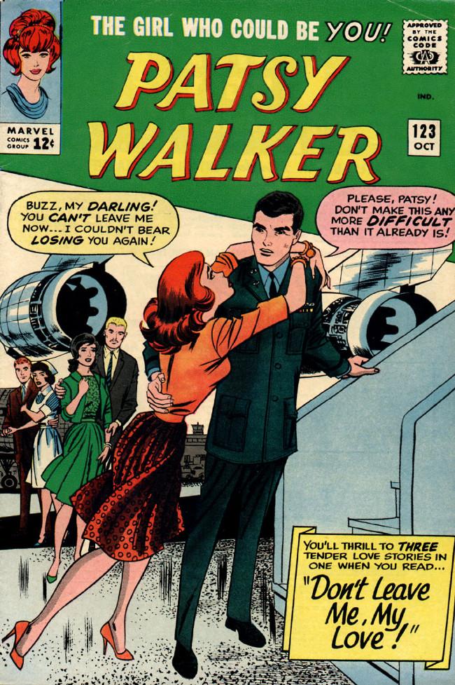 Couverture de Patsy Walker (Timely/Atlas - 1945) -123- Don't Leave Me, My Love!