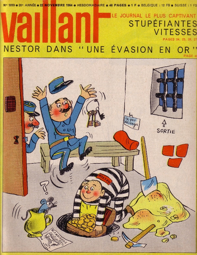 Couverture de Vaillant (le journal le plus captivant) -1019- Vaillant