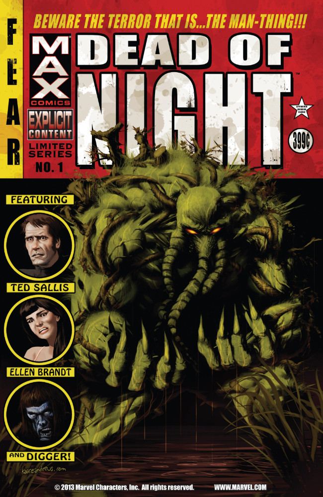 Couverture de Dead of Night Featuring Man-Thing (Marvel MAX -2008) -1- Beware the Terror That Is... The Man-Thing!!!