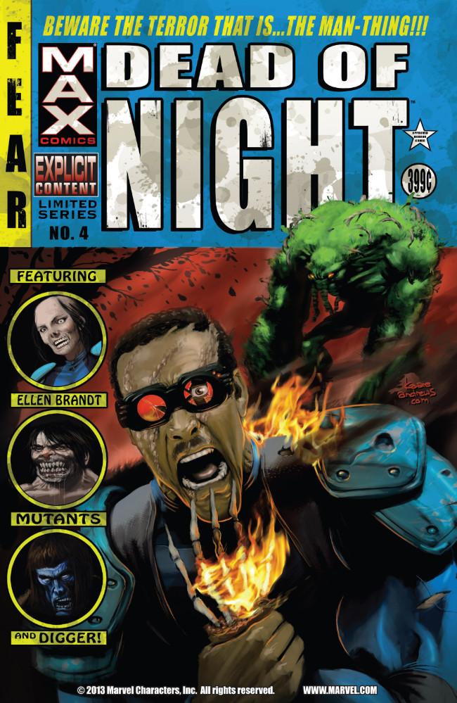 Couverture de Dead of Night Featuring Man-Thing (Marvel MAX -2008) -4- (sans titre)