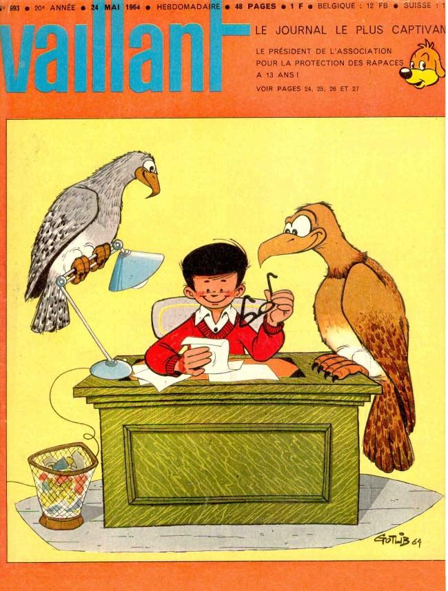 Couverture de Vaillant (le journal le plus captivant) -993- Vaillant