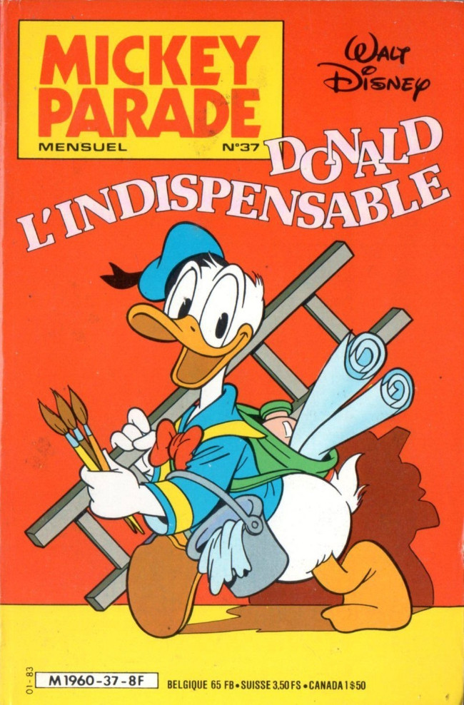 Couverture de Mickey Parade -37- Donald l'indispensable