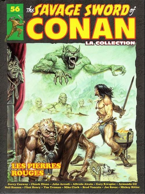 Couverture de Savage Sword of Conan (The) - La Collection (Hachette) -56- Les pierres rouges