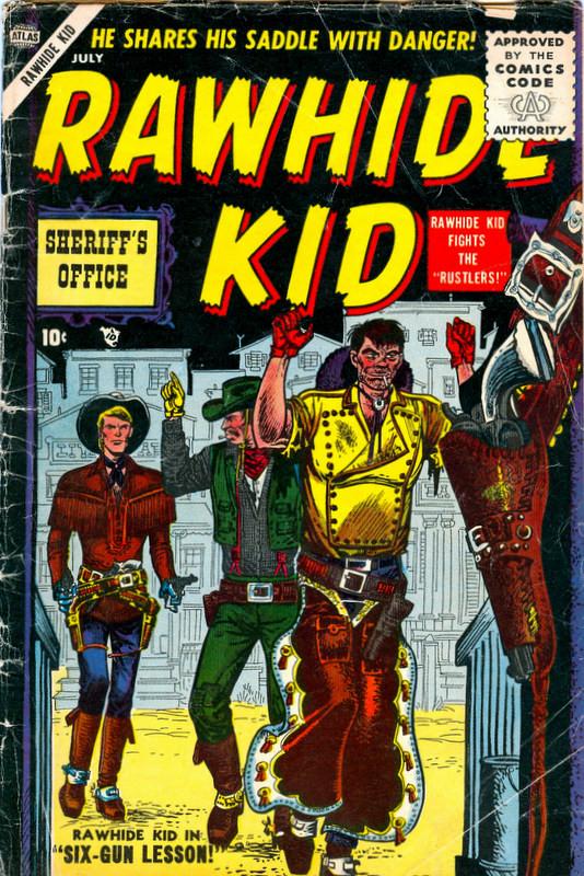 Couverture de Rawhide Kid Vol.1 (Atlas/Marvel - 1955) -3- Rustlers!
