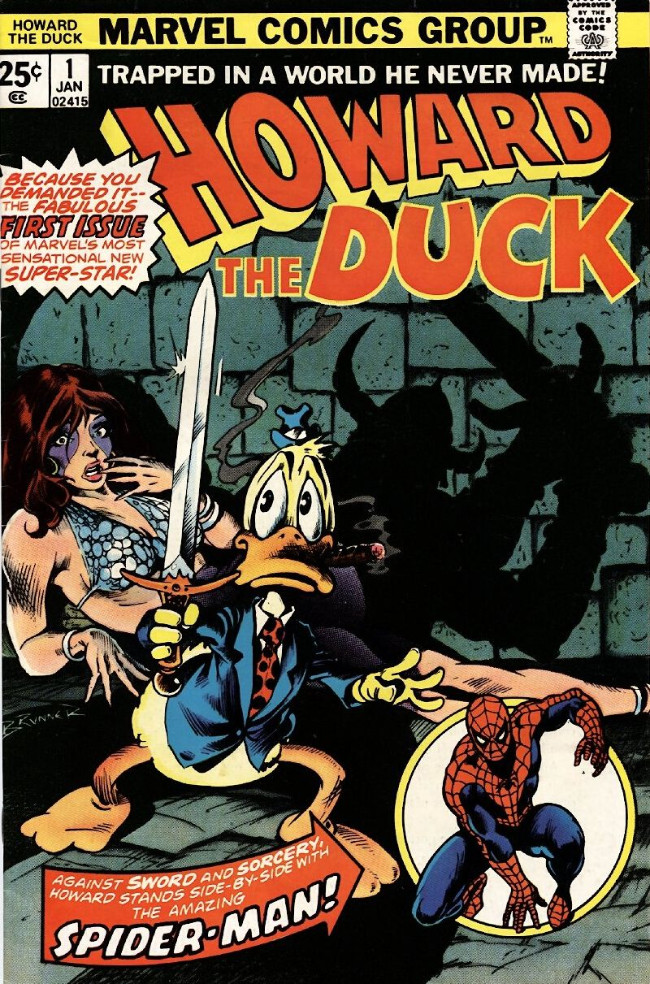 Couverture de Howard the Duck (1976) -1- Trapped In A World He Never Made!
