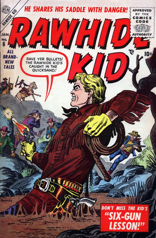 Couverture de Rawhide Kid Vol.1 (Atlas/Marvel - 1955) -6- Six-Gun Lesson!