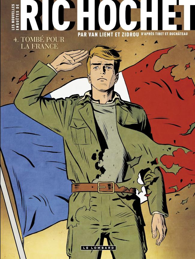 Couverture de Ric Hochet (Les nouvelles enquêtes de) -4- Tombé pour la France