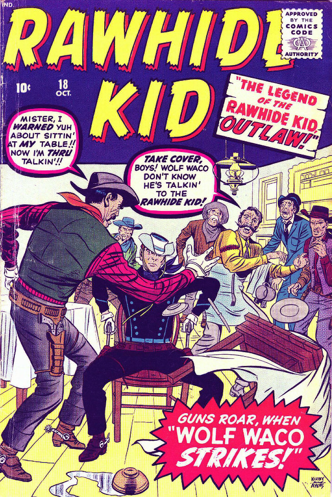Couverture de Rawhide Kid Vol.1 (Atlas/Marvel - 1955) -18- Wolf Waco Strikes!
