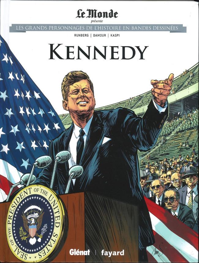 Couverture de Les grands personnages de l'histoire en bandes dessinées -26- Kennedy