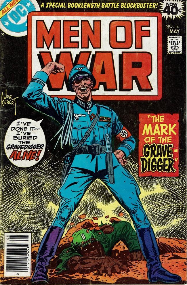 Couverture de Men of war Vol.1 (DC comics - 1977) -16- The Mark of the Gravedigger