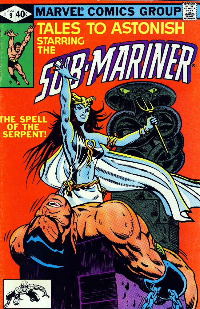 Couverture de Tales to astonish Vol. 2 (Marvel - 1979) -9- The Spell of the Serpent!