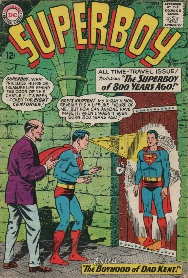 Couverture de Superboy (1949) -113- The Superboy of 800 Years Ago!