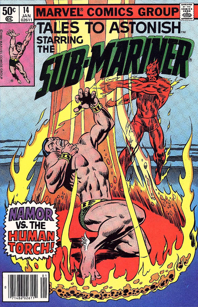 Couverture de Tales to astonish Vol. 2 (Marvel - 1979) -14- Namor Vs. The Human Torch!