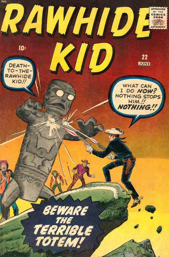 Couverture de Rawhide Kid Vol.1 (Atlas/Marvel - 1955) -22- Beware the Terrible Totem!