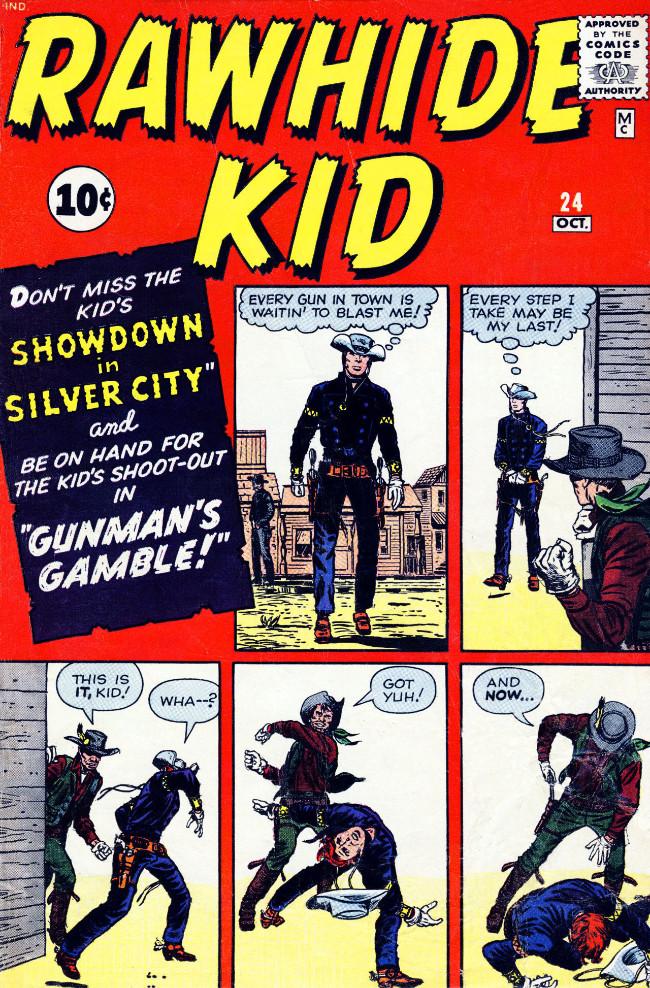 Couverture de Rawhide Kid Vol.1 (Atlas/Marvel - 1955) -24- Gunman's Gamble!