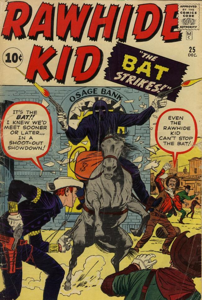 Couverture de Rawhide Kid Vol.1 (Atlas/Marvel - 1955) -25- The Bat Strikes!