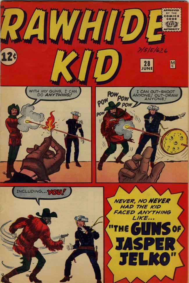 Couverture de Rawhide Kid Vol.1 (Atlas/Marvel - 1955) -28- The Guns of Jasper Jelko