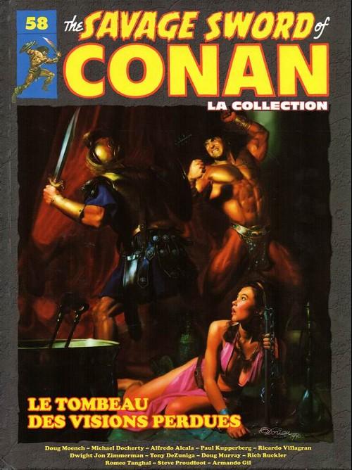 Couverture de The savage Sword of Conan (puis The Legend of Conan) - La Collection (Hachette) -58- Le tombeau des visions perdues