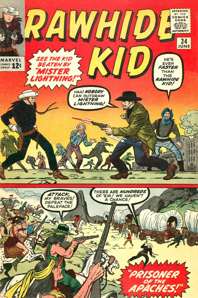 Couverture de Rawhide Kid Vol.1 (Atlas/Marvel - 1955) -34- Mister Lightning!