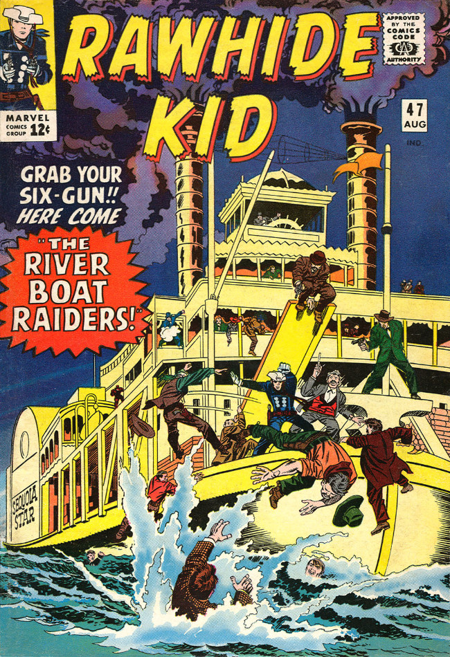 Couverture de Rawhide Kid Vol.1 (Atlas/Marvel - 1955) -47- The Riverboat Raiders!