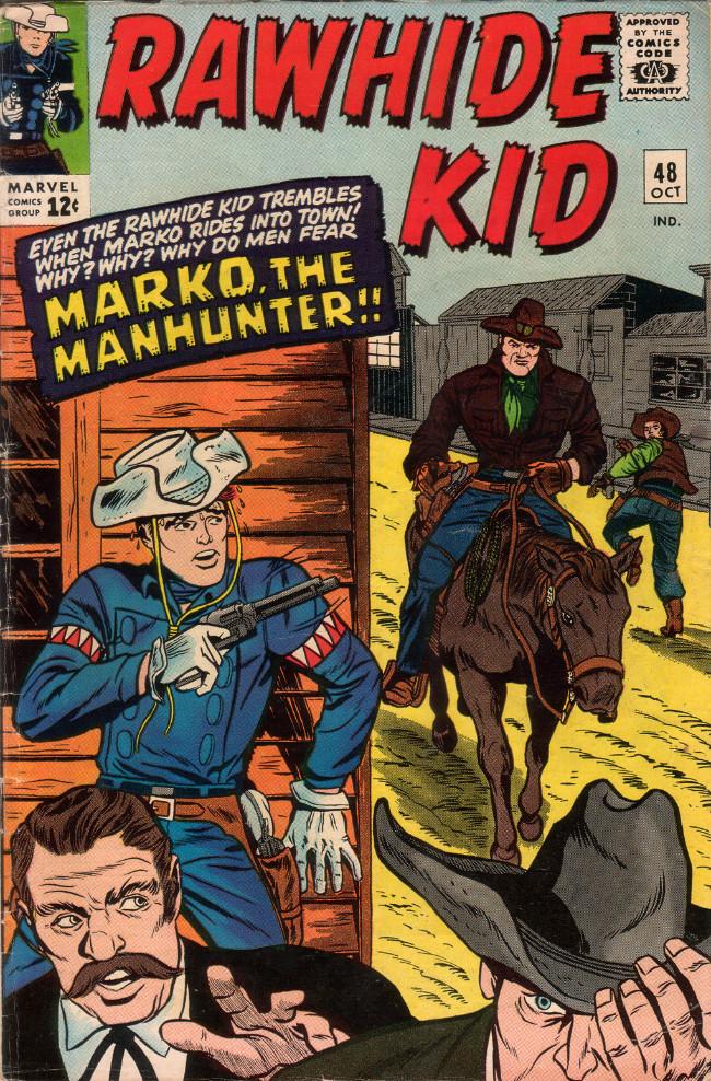 Couverture de Rawhide Kid Vol.1 (Atlas/Marvel - 1955) -48- Marko, the Manhunter!!