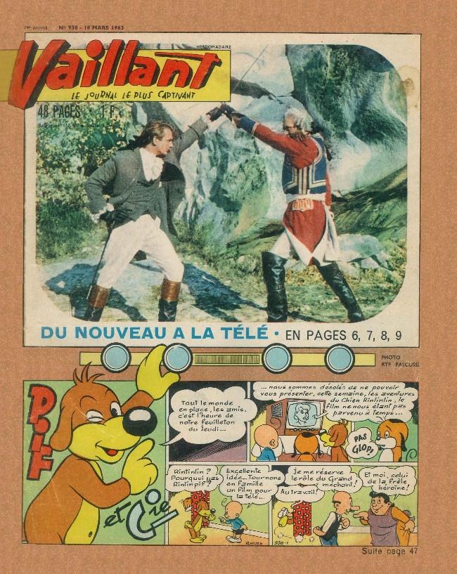 Couverture de Vaillant (le journal le plus captivant) -930- Vaillant