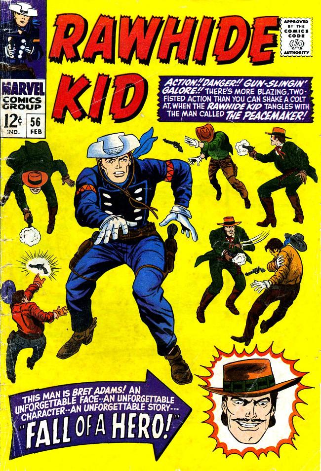 Couverture de Rawhide Kid Vol.1 (Atlas/Marvel - 1955) -56- Fall of a Hero!