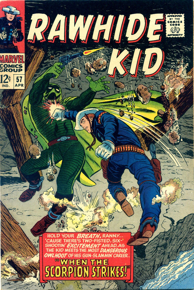 Couverture de Rawhide Kid Vol.1 (Atlas/Marvel - 1955) -57- When The Scorpion Strikes!
