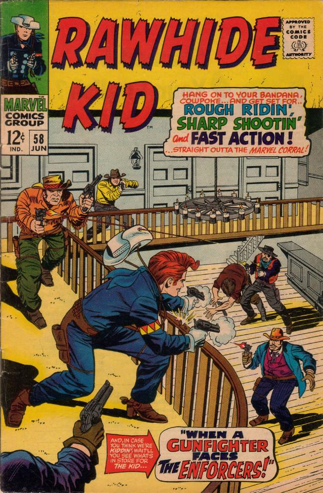 Couverture de Rawhide Kid Vol.1 (Atlas/Marvel - 1955) -58- When a Gunfighter Faces the Enforcers!
