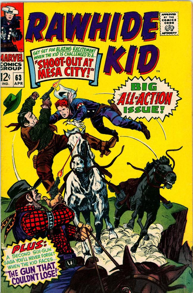 Couverture de Rawhide Kid Vol.1 (Atlas/Marvel - 1955) -63- Shoot-Out at Mesa City!