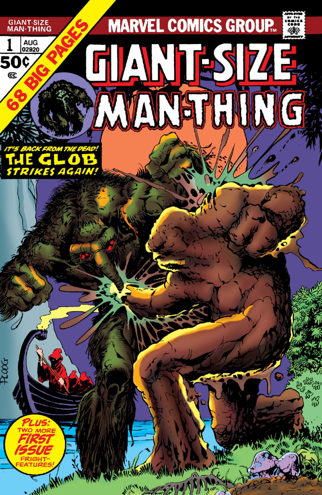 Couverture de Man-Thing (Giant Size) (Marvel - 1974) -1- The Glob Strikes Again!