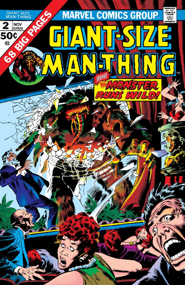 Couverture de Man-Thing (Giant Size) (Marvel - 1974) -2- The Monster Runs Wild!