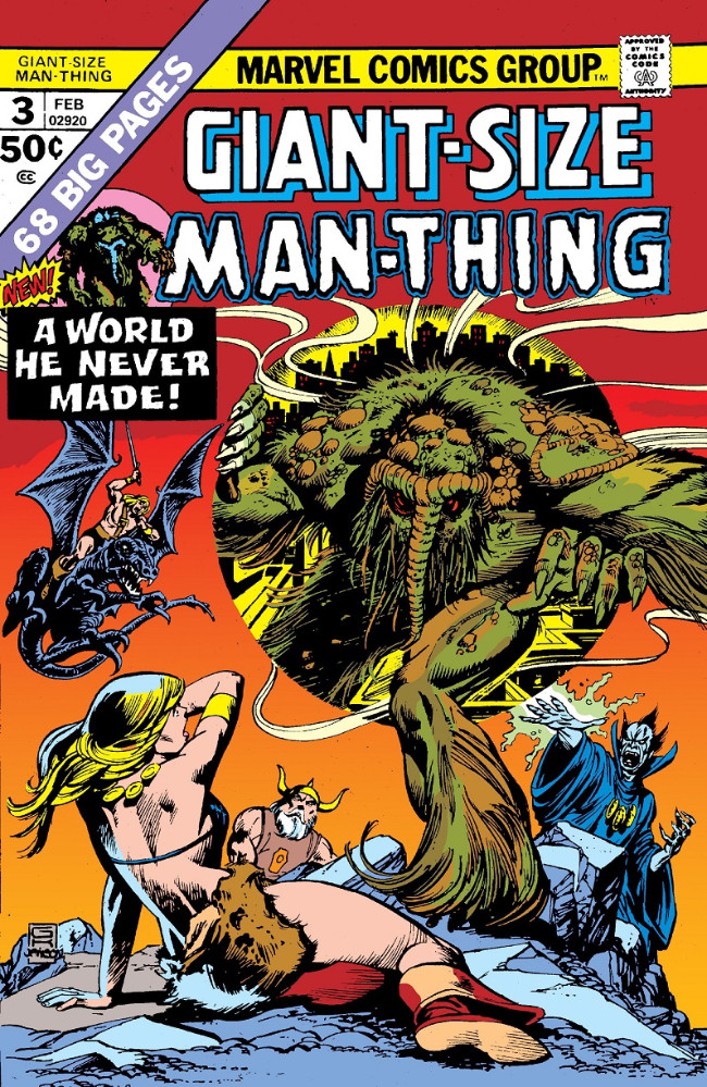 Couverture de Man-Thing (Giant Size) (Marvel - 1974) -3- A world he never made!