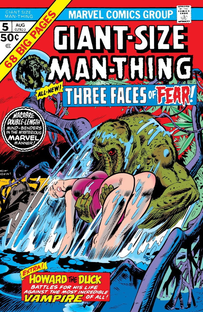 Couverture de Man-Thing (Giant Size) (Marvel - 1974) -5- Three Faces of Fear!