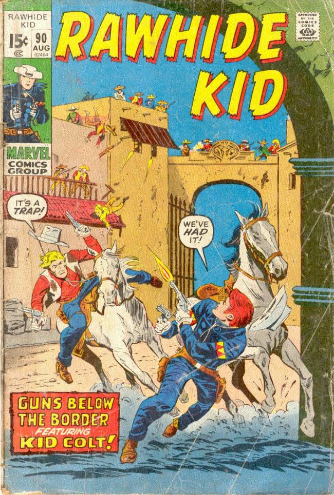 Couverture de Rawhide Kid Vol.1 (Atlas/Marvel - 1955) -90- Guns Below the Border!