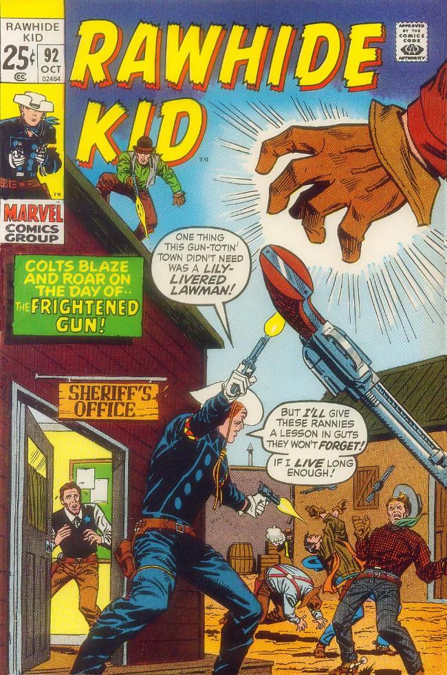 Couverture de Rawhide Kid Vol.1 (Atlas/Marvel - 1955) -92- The Frightened Gun!